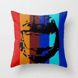 Halo Helmet - Red vs. Blue Team Throw Pillow