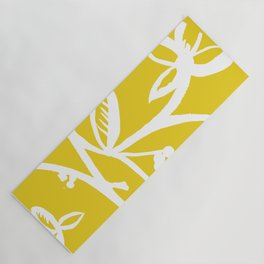 Inky Vines Yoga Mat