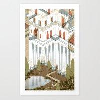 castle Art Prints featuring Castle by Joe Lillington