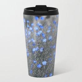 Blue Flowers Garden Travel Mug