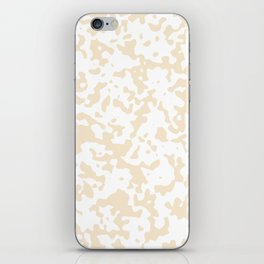 Spots - White and Champagne Orange iPhone Skin