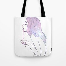 Puke the cosmos Tote Bag