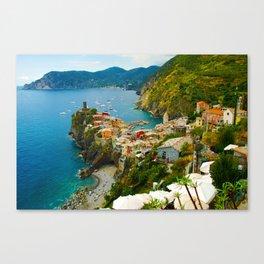 Vernazza Italy - Italian Riviera Canvas Print