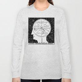Astro Phrenological Chart Long Sleeve T-shirt