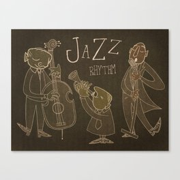 Jazz Rhythm Canvas Print