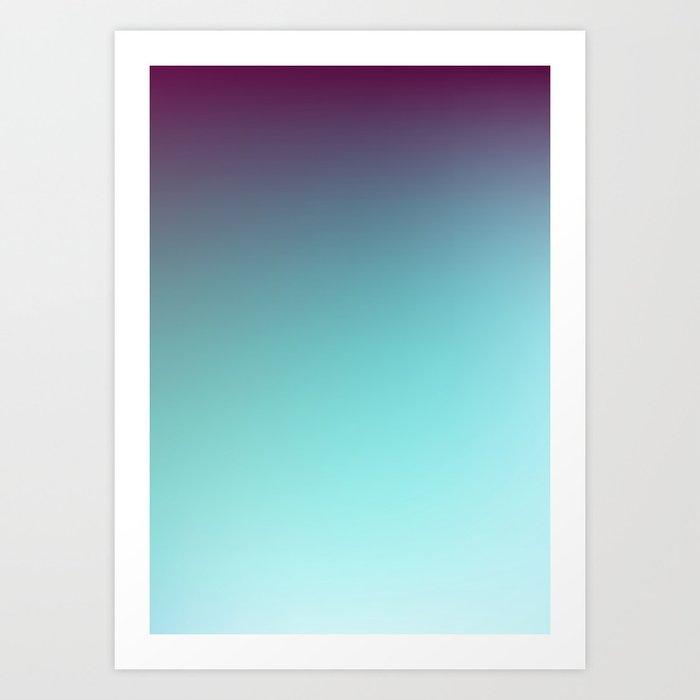 AQUA / Plain Soft Mood Color Blends / iPhone Case Art Print