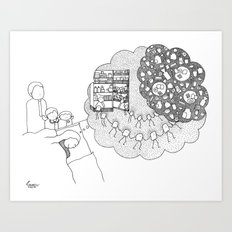 Oh breakfast! Art Print