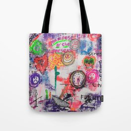 Be here now Tote Bag