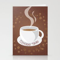 cafe Stationery Cards featuring Cafe by lythy