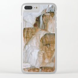Yellowstone National Park Mammoth Hot Springs Clear iPhone Case