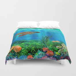 UnderSea with Turtle Duvet Cover