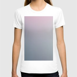 WATER WALL - Minimal Plain Soft Mood Color Blend Prints T-shirt