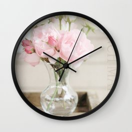 Smells Like Roses Wall Clock