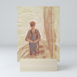 Fisherman, Isle of Shoals 1903 by Childe Hassam Mini Art Print