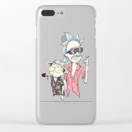rick & morty Clear iPhone Case