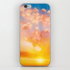 Sunset feather iPhone Skin