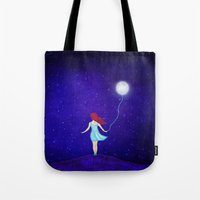 redhead Tote Bags featuring redhead by Nancy Woland