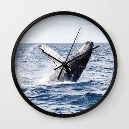 Humpback Whale Ocean Wall Clock