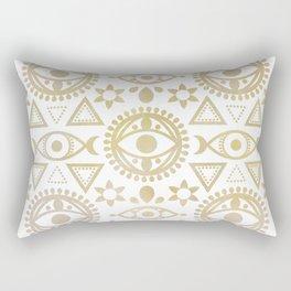 Geometric Evil Eye Metallic Rectangular Pillow