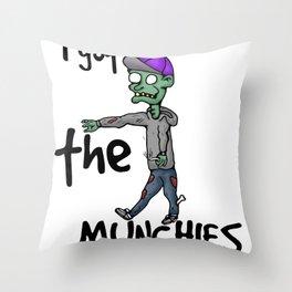 Stoner Zombie Throw Pillow