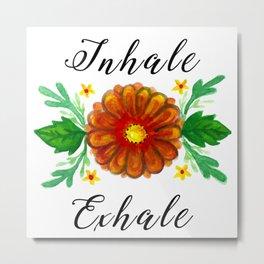 Inhale & Exhale Mandala Metal Print
