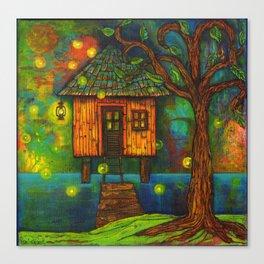 Little House on the Bayou  Canvas Print