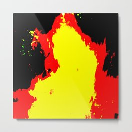 fire in the night, abstracted Metal Print