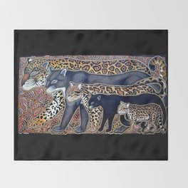 Big cats of Costa Rica Throw Blanket