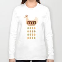 chicken Long Sleeve T-shirts featuring Chicken by Mira Maijala