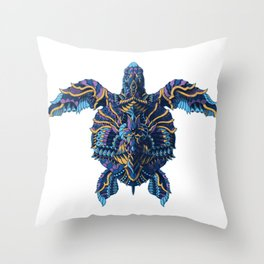Sea Turtle (Color Version) Throw Pillow