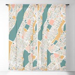 Manhattan New York Map Art Blackout Curtain