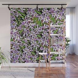Purple Flowers Galore Wall Mural