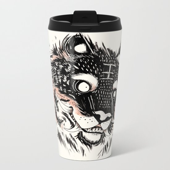 Tiger Power Metal Travel Mug