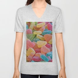 sweet candy at birthday party Unisex V-Neck