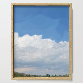 Soft Fluffy Clouds Serving Tray