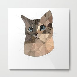 Cat Shapes Metal Print