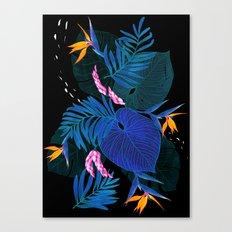 tropical // night in the garden Canvas Print