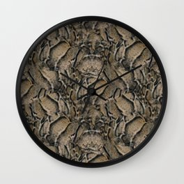Clouded Leopard Fur Print Wall Clock