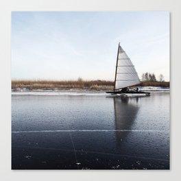 Sailboat on Ice Canvas Print