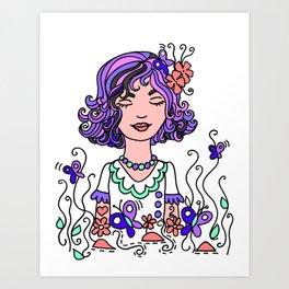Style Girl - Emma - Doodle Art Art Print