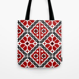Red Ukrainian Embroidery Tote Bag