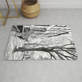 Cobble Hill Brooklyn Winter Black and White Brownstone Rug