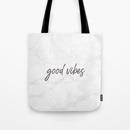 Good Vibes Marble Tote Bag