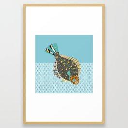 F is for Flounder Framed Art Print