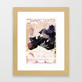 1899 Art nouveau auction journal ad Framed Art Print