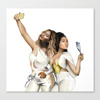 minaj Canvas Prints featuring ...Carry ON by g.Mozel