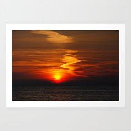 Zig Zag Sunset Art Print
