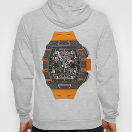 Richard Mille 11-03 MCL Orange Quartz and Carbon TPT Flyback Chronograph 50MM Hoody