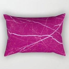 Magenta marble abstract texture pattern Rectangular Pillow