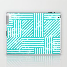 Turquoise Stripes Laptop & iPad Skin